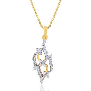 Asmi Diamond Pendant DP959SI-JK18Y