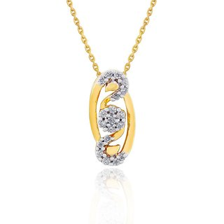 Sangini Diamond Pendant PP16278SI-JK18Y