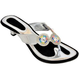 Altek Shiny Comfort Silver Heel Sandal (foot1346silver)