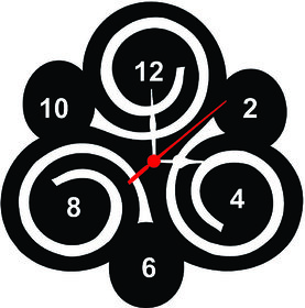 SPIRAL WALL CLOCK SIZE 9 INCH MATERIAL WOOD