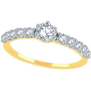 Beautiful sparkling diamond  Ring BRP836SI-JK18Y