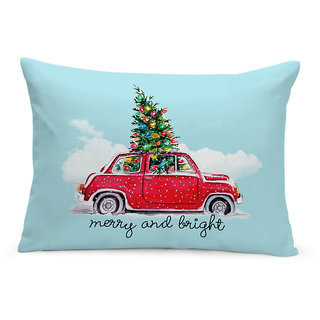 Merry and Bright Printed Cushion