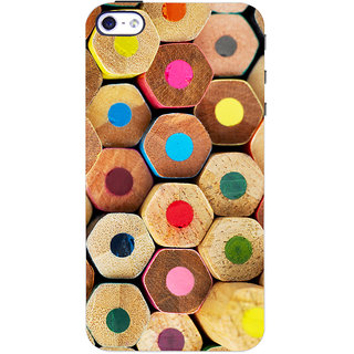 Oyehoye Colourful Pattern Style Printed Designer Back Cover For Apple iPhone 4 Mobile Phone - Matte Finish Hard Plastic Slim Case