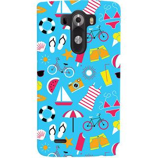 Oyehoye Beach Pattern Style Printed Designer Back Cover For LG G3/ Optimus G3 Mobile Phone - Matte Finish Hard Plastic Slim Case