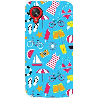 Oyehoye Beach Pattern Style Printed Designer Back Cover For LG Google Nexus 5 Mobile Phone - Matte Finish Hard Plastic Slim Case