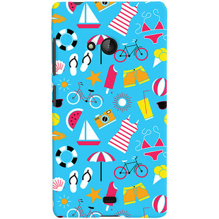 Oyehoye Beach Pattern Style Printed Designer Back Cover For Microsoft Lumia 540 Mobile Phone - Matte Finish Hard Plastic Slim Case