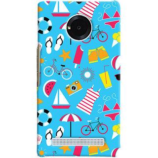 Oyehoye Beach Pattern Style Printed Designer Back Cover For Micromax Yuphoria Mobile Phone - Matte Finish Hard Plastic Slim Case