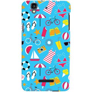 Oyehoye Beach Pattern Style Printed Designer Back Cover For Micromax Yureka Plus Mobile Phone - Matte Finish Hard Plastic Slim Case
