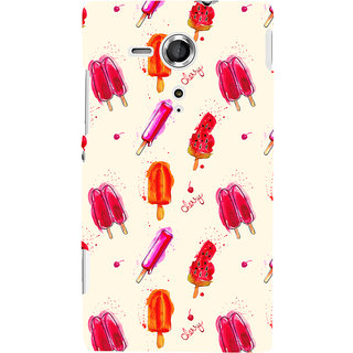 Oyehoye Ice Cream Pattern Style Printed Designer Back Cover For Sony Xperia SP Mobile Phone - Matte Finish Hard Plastic Slim Case