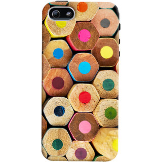 Oyehoye Colourful Pattern Style Printed Designer Back Cover For Apple iPhone 5 Mobile Phone - Matte Finish Hard Plastic Slim Case