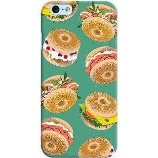 Oyehoye Burger For Foodies Pattern Style Printed Designer Back Cover For New Apple iPhone 6 Mobile Phone - Matte Finish Hard Plastic Slim Case