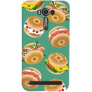 Oyehoye Burger For Foodies Pattern Style Printed Designer Back Cover For Asus Zenfone 2 Laser ZE601KL Mobile Phone - Matte Finish Hard Plastic Slim Case