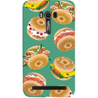 Oyehoye Burger For Foodies Pattern Style Printed Designer Back Cover For Asus Zenfone Go Mobile Phone - Matte Finish Hard Plastic Slim Case