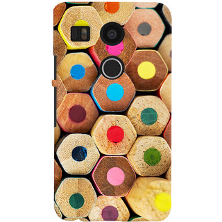 Oyehoye Colourful Pattern Style Printed Designer Back Cover For LG Google Nexus 5X Mobile Phone - Matte Finish Hard Plastic Slim Case