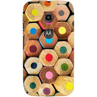 Oyehoye Colourful Pattern Style Printed Designer Back Cover For Motorola Moto E2 Mobile Phone - Matte Finish Hard Plastic Slim Case