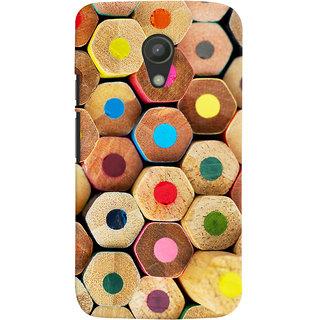 Oyehoye Colourful Pattern Style Printed Designer Back Cover For Motorola Moto G2 / Second Generation Mobile Phone - Matte Finish Hard Plastic Slim Case