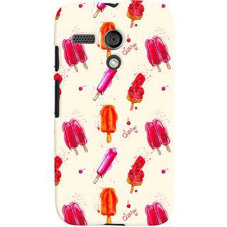 Oyehoye Ice Cream Pattern Style Printed Designer Back Cover For Motorola Moto G Mobile Phone - Matte Finish Hard Plastic Slim Case