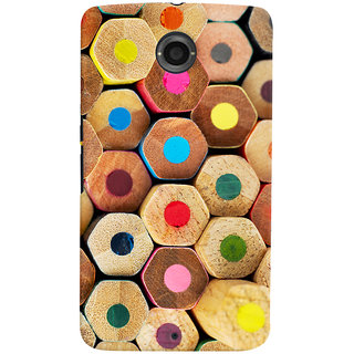 Oyehoye Colourful Pattern Style Printed Designer Back Cover For Motorola Google Nexus 6 Mobile Phone - Matte Finish Hard Plastic Slim Case