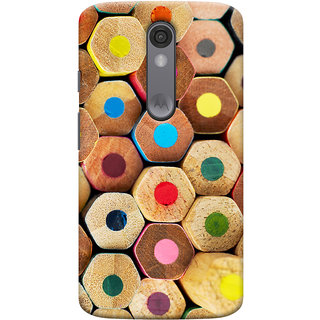 Oyehoye Colourful Pattern Style Printed Designer Back Cover For Motorola Moto X Force Mobile Phone - Matte Finish Hard Plastic Slim Case