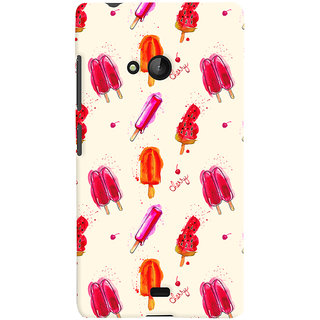 Oyehoye Ice Cream Pattern Style Printed Designer Back Cover For Microsoft Lumia 540 Mobile Phone - Matte Finish Hard Plastic Slim Case