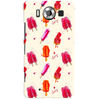 Oyehoye Ice Cream Pattern Style Printed Designer Back Cover For Microsoft Lumia 950 Mobile Phone - Matte Finish Hard Plastic Slim Case