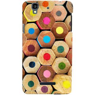 Oyehoye Colourful Pattern Style Printed Designer Back Cover For Micromax Yureka Plus Mobile Phone - Matte Finish Hard Plastic Slim Case