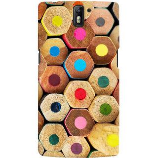 Oyehoye Colourful Pattern Style Printed Designer Back Cover For OnePlus One Mobile Phone - Matte Finish Hard Plastic Slim Case