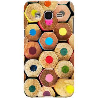 Oyehoye Colourful Pattern Style Printed Designer Back Cover For Samsung Galaxy J2 Mobile Phone - Matte Finish Hard Plastic Slim Case