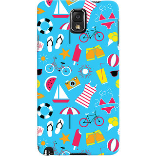 Oyehoye Beach Pattern Style Printed Designer Back Cover For Samsung Galaxy Note 3 Mobile Phone - Matte Finish Hard Plastic Slim Case