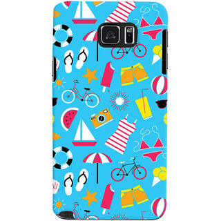 Oyehoye Beach Pattern Style Printed Designer Back Cover For Samsung Galaxy Note 5 Dual Sim / Edge Plus Mobile Phone - Matte Finish Hard Plastic Slim Case