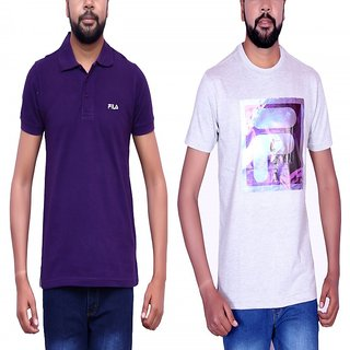 FILA MEN'S  T-SHIRT (COMBO 2)