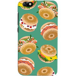 Oyehoye Burger For Foodies Pattern Style Printed Designer Back Cover For Huawei Honor 4X / Dual Sim / Glory Play Mobile Phone - Matte Finish Hard Plastic Slim Case