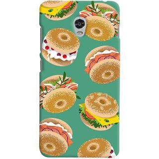 Oyehoye Burger For Foodies Pattern Style Printed Designer Back Cover For Lenovo Vibe P1 Turbo Mobile Phone - Matte Finish Hard Plastic Slim Case