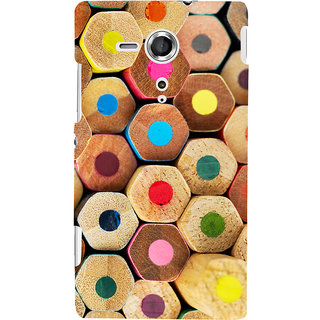 Oyehoye Colourful Pattern Style Printed Designer Back Cover For Sony Xperia SP Mobile Phone - Matte Finish Hard Plastic Slim Case