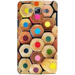 Oyehoye Colourful Pattern Style Printed Designer Back Cover For Samsung Galaxy J7 Mobile Phone - Matte Finish Hard Plastic Slim Case