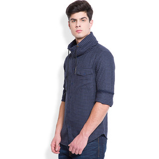 Locomotive Blue Others Full sleeves Casual Shirt For Men