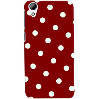 Oyehoye Red And White Polka Dots Pattern Style Printed Designer Back Cover For HTC Desire 626 / 626 G Plus Mobile Phone - Matte Finish Hard Plastic Slim Case