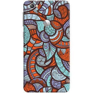 Oyehoye Colourful Abstract Art Printed Designer Back Cover For LeEco LE1S Mobile Phone - Matte Finish Hard Plastic Slim Case