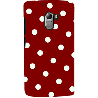 Oyehoye Red And White Polka Dots Pattern Style Printed Designer Back Cover For Lenovo K4 Note Mobile Phone - Matte Finish Hard Plastic Slim Case