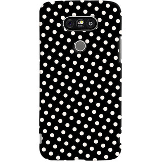 Oyehoye Black and White Polka Dots Pattern Style Printed Designer Back Cover For LG G5 / Optimus G5 Mobile Phone - Matte Finish Hard Plastic Slim Case