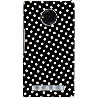 Oyehoye Black and White Polka Dots Pattern Style Printed Designer Back Cover For Micromax Yuphoria Mobile Phone - Matte Finish Hard Plastic Slim Case