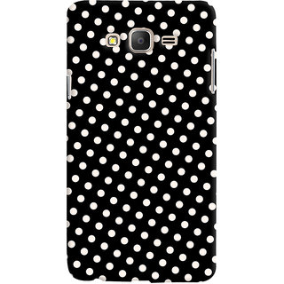 Oyehoye Black and White Polka Dots Pattern Style Printed Designer Back Cover For Samsung Galaxy ON5 Mobile Phone - Matte Finish Hard Plastic Slim Case