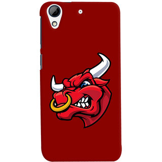 Oyehoye HTC Desire 626 / 626 G Plus Mobile Phone Back Cover With Raging Bull - Durable Matte Finish Hard Plastic Slim Case