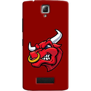 Oyehoye Lenovo A2010 Mobile Phone Back Cover With Raging Bull - Durable Matte Finish Hard Plastic Slim Case