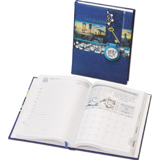 WORLDSTAR 2017 Motivation Themed Diary, Hardbound 364 pages, Royale Blue Color