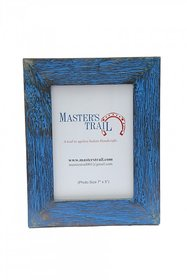 Rubbed Blue Photo Frame