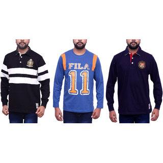 FILA MEN'S POLO NECK T-SHIRT (COMBO 3)
