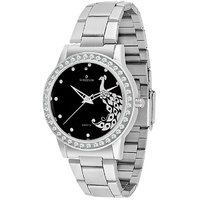 Sheldon Black Dial Peacock Analog Watch For Men