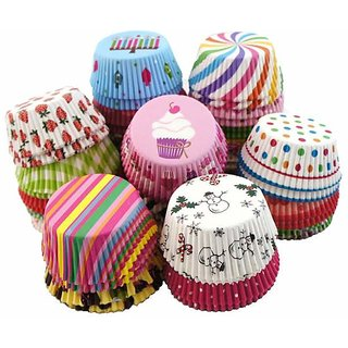 Mini Muffin Paper Cup liners  DIY , cup  Baking Chocolate muffin cups - Set of 100 - 10cm each