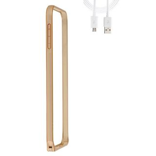 Samsung Galaxy On7 Bumper Case Cover Golden With USB Cable